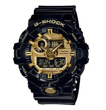 Casio G-Shock * GA710GB-1A Front Button Anadigi Gold Black Resin COD PayPal
