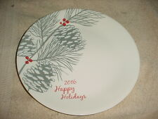 CORELLE 2016 HAPPY HOLIDAYS LIMITED EDITION DINNER PLATE FREE USA SHIPPING