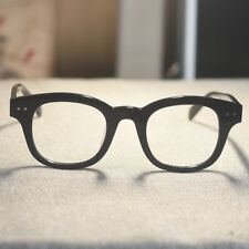 Black Retro italy acetate eyeglasses mens vintage 1960's Rectangular RX glasses