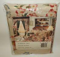 "NOS Vintage Croscill Dynasty Floral Festoon Valance Curtain 86"" x 30"" MIP"