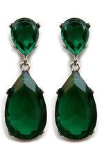 Famous celebrity  Emerald Pear shape earrings  Oscar