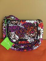 "NWT Vera  Bradley "" Rosewood ""  Lizzy CrossBody Purse Bag Handbag"