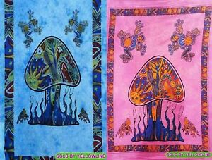 2 piece Mushroom Tapestry Bohomen Indian Wall Hanging Wholesale (77cmX102cm)TP-5