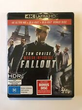 Mission Impossible 6 Fallout (4K Ultra HD + Blu-ray + Bonus Disc) New & Sealed