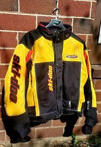 Ski Doo X-Team hornet Jacket Checker snowmobile 2XL Tall insulated yellow