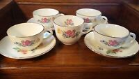 Vintage Floral Bouquet 9pc Tea Cup Set - Made in USA
