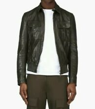 DSQUARED2 DARK OLIVE LEATHER JACKET Model S74AM0427 Size Small RRP - £1585