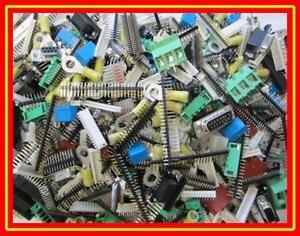 STECKER BUCHSEN STIFTLEISTEN Sortiment bunt gemischt 1 KILOGRAMM