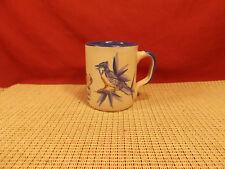 "Louisville Stoneware Blue Jay Design Bird Mug 4"" T"