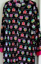 Super SOFT PJ Couture Colorful Night Owls Footed Pajamas 1 PC M or XL LAST ONES