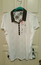 CALLAWAY WHITE  AND BLACK GOLF SHIRT SIZE XL