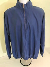 Ashworth mens size XL blue pullover shirt 1/2 zip water wind resistant L/S