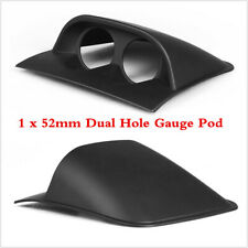"Car Dual Dash Gauge Meter Pod 2 Hole Dashboard Mount Holder For 2""/52mm Gauges"