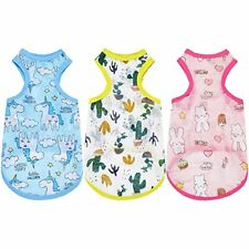 3 Pieces Pet Shirts Cat Dog Clothes Breathable Shirts for Small Dogs Cats M Size