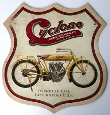 CYCLONE MOTORCYCLES, JOERNS MOTOR MFG.CO. ST PAUL. MINN. USA. ALL WEATHER SIGN