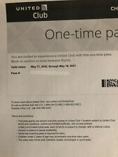 United Club One Time Pass EXP 05/18/2021 - Plus Special Gift Card Offer!!