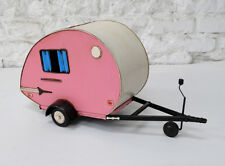 TRAILER CAMPING tin toy tinplate car airstream model oldtimer handmade metal
