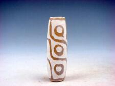Old Tibetan Natural Gemstone Agate *9 Eyes* Pattern Dzi Bead #01212007