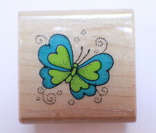 Hero Arts A311 Butterfly Insece Bug Wooden Rubber Stamp