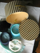 Lot of 4 Vintage Hats with Hat box, 1930s-50s?