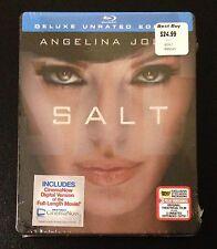 SALT Blu-Ray SteelBook Best Buy Exclusive 3 Versions Angelina Jolie New OOP Rare