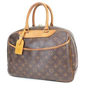 Authentic LOUIS VUITTON Deauville Monogram Hand Bag Purse #38412