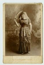 Vintage Cabinet Card Stage Actress Dressed Egyptian Style Reed Photo Mobile Ala