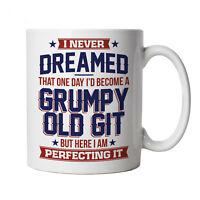 Perfecting Grumpy Old Git, Mug - Funny Gift Him Dad Grandad Birthday Secret Xmas