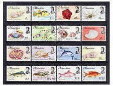 Mauritius - 1972/4, 4c - 10r (Exc 2c & 3c) Fish set - F/U - SG 439/54