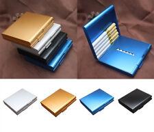 1PC Aluminum Cigarette Case Pocket Metal Holder Cases Tobacco 20 Cigarettes Hot