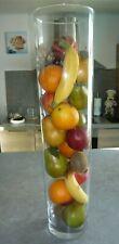 LOT DE FRUITS ARTIFICIELS : POMME POIRE ORANGE BANANE KIWI etc.. (sans vase)