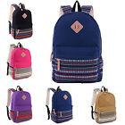 Womens Girl Canvas Shoulder School Bags Handbag Bookbag Backpack Retro Rucksack