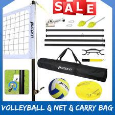 New listing Volleyball Set Official Size Net Ball Poles Outdoor Team Sports Beach Park Bag