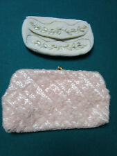 MIDCENTURY BEADED PEARLS PURSES BY DAVID 5TH AVE AND WALBORG BELGIUM