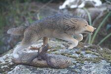 MO0493   FIGURINE  STATUETTE FAMILLE   LOUP LOUVE   ANIMAL SAUVAGE