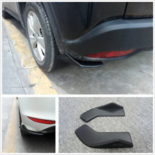 Black Rear Bumper Moulding Spoiler Diffuser Corner Scratch Resistant Guard 2PCS