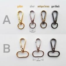 Lobster Swivel Keychain Car Key ring Dog Chain Belt Clasp Clip Snap Trigger Hook