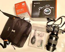 Sony A7ii 24.3MP PLUS FE 24-240mm Lens Plus Bag and Card Case & Optics Care Kit
