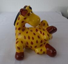 """Spardose Keramik """" Giraffe """" mit Schloß und Schlüssel"""
