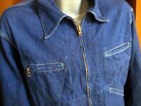 44 L/XL True Vtg 80s OSH KOSH B'GOSH Barn Chore Denim Indigo Work Jacket
