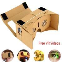 """Google Cardboard VR Headset Full Kit Magnet +Free VR Videos For 4 -7"""" Phone BE"""