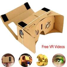 "Google Cardboard VR Headset Full Kit Magnet +Free VR Videos For 4 -7"" Phone BE"