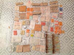 Vintage Watch Parts incl Balance Staffs Job Lot From Watchmakers Collection r1