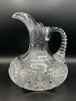 """Large Rare ABP American Brilliant Period Cut Glass Water Pitcher, 9 3/4"""" High"""