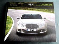 BENTLEY CONTINENTAL GT & CONVERTIBLE - UK 2013 HARDBACK BROCHURE W12