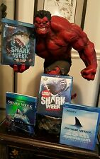(4) Discovery Channel Shark Week Blu-ray Documentary Shows (6 discs total)