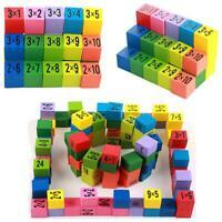 Children Figure Blocks Wood Toy 99 Multiplication Table Math Education Toys HO3