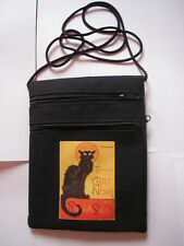 SAC POCHETTE PASSEPORT LA TOURNEE DU  CHAT NOIR PARIS BAG SACCO GATO PARIGHI