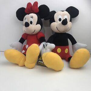 "Disney's Mickey & Minnie Mouse 14"" Plush Toy Stuffed Toy by Kohl's New"
