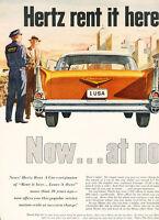 1958 Chevrolet Hertz 2-page - Vintage Advertisement Car Print Ad J474
